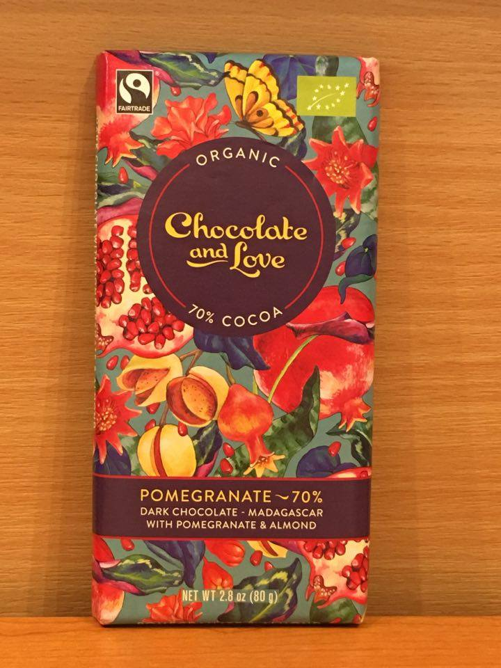Food Drink Chocolate And Love Organic Chocolate 80 G